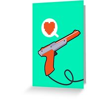 I HEART NES ZAPPER Greeting Card