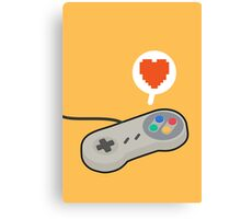 I HEART SNES Canvas Print