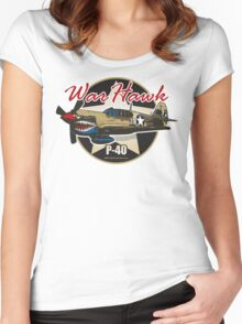 P-40 Warhawk Women's Fitted Scoop T-Shirt