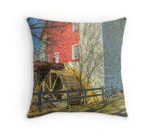Bunker Hill Flour Mill Throw Pillow