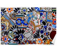 Mosaic. Park Guell Poster