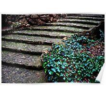 Stairs. Park Guell Poster