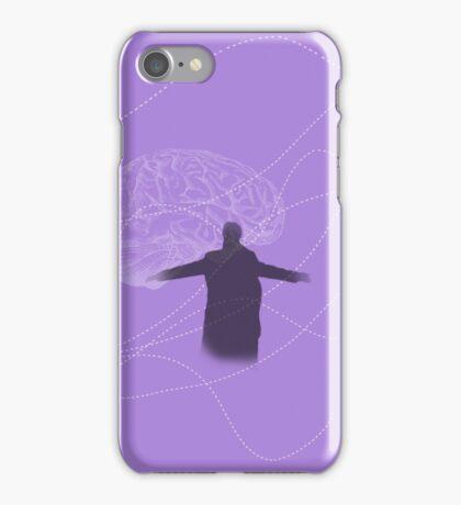 Prepared to burn (purple w/ brain) iPhone Case/Skin