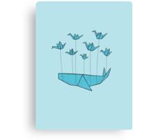Origami Fail Whale Canvas Print