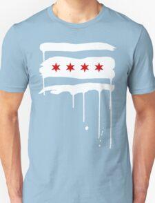 Chicago Flagraffiti Unisex T-Shirt