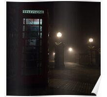 Foggy Phonebox Poster