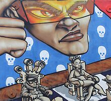Brighton Chess Graffiti  by Lillie Halton