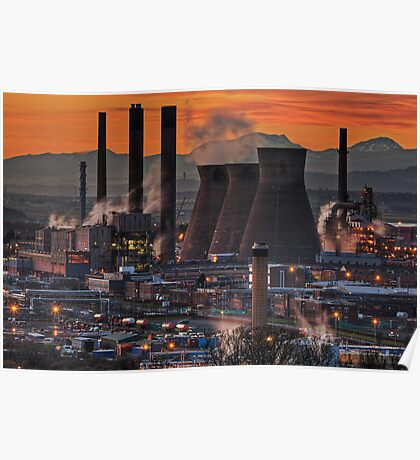 Grangemouth Refinery (3) Poster