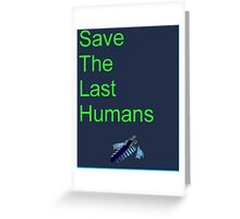 Resogun Save the Last Humans Greeting Card