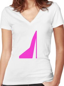 Shoe Women's Fitted V-Neck T-Shirt