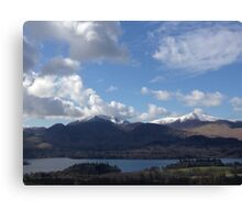 Looking over Keswick Canvas Print