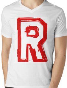 Rocket Team Mens V-Neck T-Shirt