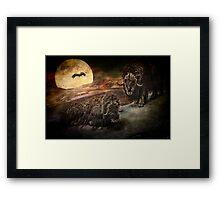 Bison-O-Rama Framed Print