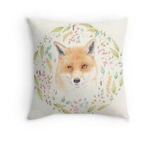 Fox Mandala Throw Pillow