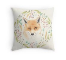 Fox Mandala Throw Pillow