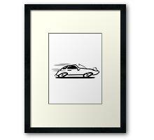 Sports car car car car fast Framed Print