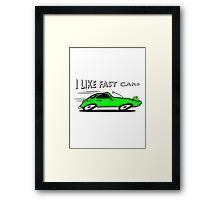 Sports car auto car vehicle fast fast Framed Print