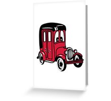 oldie classic car car car car funny Greeting Card