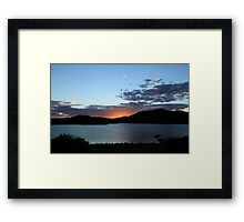 The Last Glow Of The Sun Framed Print