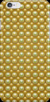 Golden Pearls Pattern by DFLC Prints