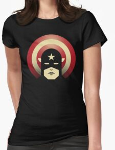 PATRIOTIC DEFENDER Womens Fitted T-Shirt