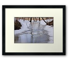Frozen Stream in Spring Framed Print