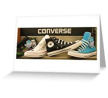 High top Converse Greeting Card