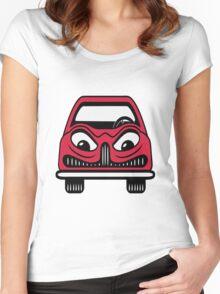Car carriage evil eye Fahrzeugl Women's Fitted Scoop T-Shirt