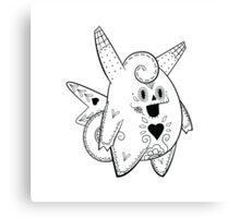 Clefable de los Muertos   Pokemon & Day of The Dead Mashup Canvas Print
