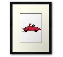 Car sports car fast women car Framed Print
