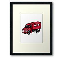 Car toys truck truck truck vehicle Framed Print
