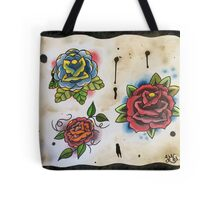 3 Roses - Tattoo Flash Tote Bag