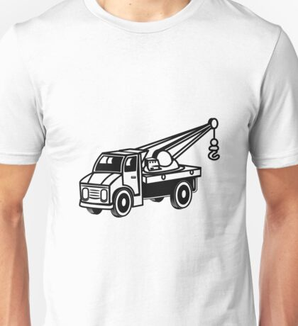 Car toy truck crane tow truck-mounted crane truck  Unisex T-Shirt