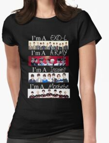 EXO, BTS, INFINITE, AND MONSTA X - I'M A FAN Womens Fitted T-Shirt