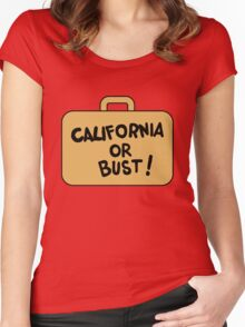 A Suitcase and a Dream Women's Fitted Scoop T-Shirt