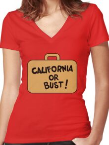 A Suitcase and a Dream Women's Fitted V-Neck T-Shirt