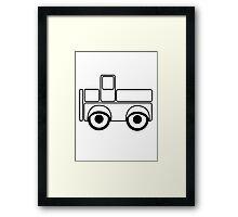 Car toys baby car truck vehicle Framed Print