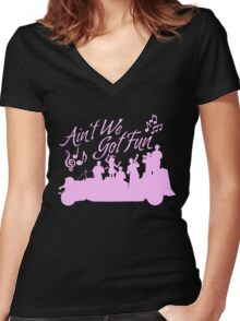 Five and Dime - Ain't We Got Fun V2 Women's Fitted V-Neck T-Shirt