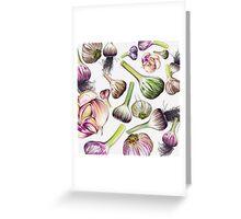 A Grouping of Garlic Greeting Card
