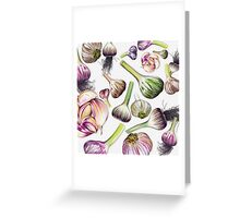 A Grouping of Garlic Greeting Card