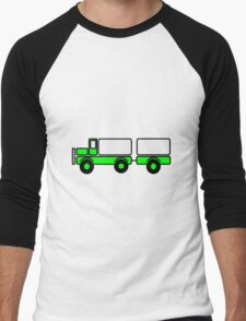 Car toys baby truck vehicle trailer Men's Baseball ¾ T-Shirt