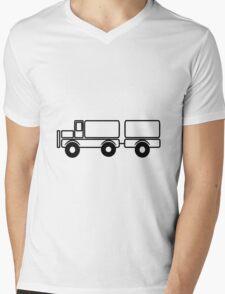 Car toys baby truck vehicle trailer Mens V-Neck T-Shirt