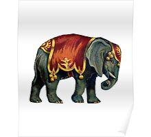 Vintage Circus Elephant Poster