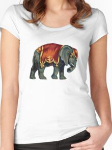Vintage Circus Elephant Women's Fitted Scoop T-Shirt
