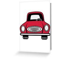 Car grill car vehicle Greeting Card