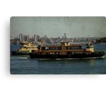 Ferries Crossing Canvas Print