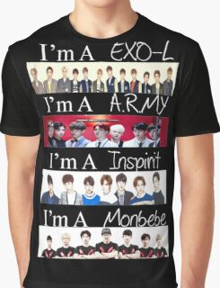 EXO, BTS, INFINITE, AND MONSTA X - I'M A FAN Graphic T-Shirt