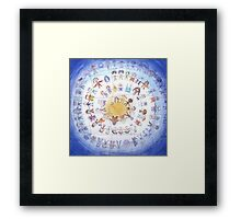 """Puzzle painting """"Round dance"""" Framed Print"""