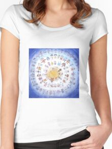 """Puzzle painting """"Round dance"""" Women's Fitted Scoop T-Shirt"""