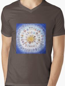 """Puzzle painting """"Round dance"""" Mens V-Neck T-Shirt"""